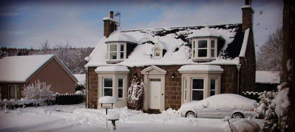 Waverley Villa in the snow